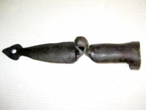 Element rustic loitre caruta metal forjat manual dupa 1900.