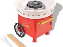Mașină vată de zahăr cu roți, 480 W, roșie(50509)