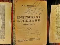 Semanatorul-Insemnari Literare ed. veche 1926. N.I. Herescu.