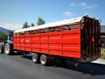 Remorca agricola pentru transport animale