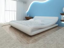 Cadru de pat ondulat, piele artificială(243147)