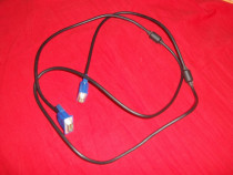 Cablu vga, ferita, 1,8m nou