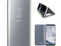 Husa Telefon Flip Book Clear View Samsung Galaxy S8 g950 Sil