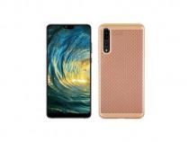 Husa telefon plastic huawei p20 pro mesh goldprodus nou