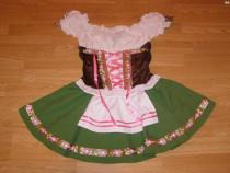 Costum carnaval serbare rochie traditionala tiroleza 9-10 an