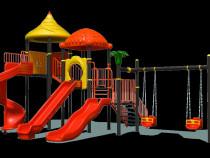 Complex de joaca pentru copii , tobogan , leagan dublu