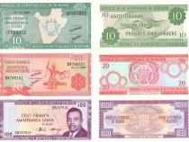Lot 6 bancnote BURUNDI 2005-2015 - UNC