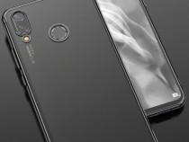 Huawei p20 lite - husa ultra slim silicon clar capete negre