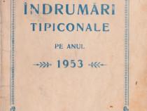 Îndrumări tipiconale pe anul 1953