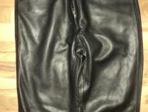 Pantaloni model clasic din piele naturala de calitate
