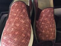 Sneakers slip-on Isaia Napoli,coral print,produs original.