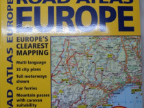 "COLECTIE: Atlas ""Road Atlas Europe"" ilustrat color"