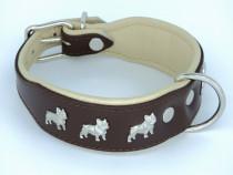 Zgarda piele Luxury French Bulldog Sara Dog