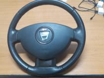 Volan piele cu airbag, duster 2012