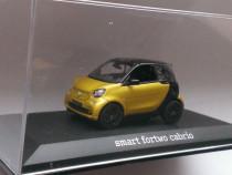 Macheta Smart fortwo 3 2016 (W453) galben - Norev 1/43