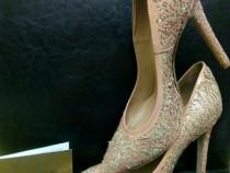 Pantofi stiletto bej auriu (nude) Sofia Baldi