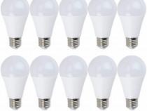 10x Bec LED Lumina rece, NOVELite, 9W, Fasung E27