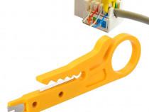 Clește de tăiat cablu internet UTP - GALBEN,nou