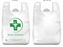 "Pungi albe 100% biodegradabile - model ""Farmacie"""