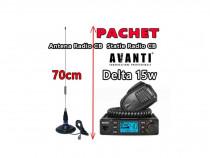 Pachet statie radio cb avanti delta + antena ml70 cu magnet