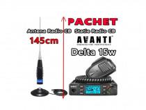 Pachet Statie Radio CB AVANTI Delta + Antena ML145 cu Magnet