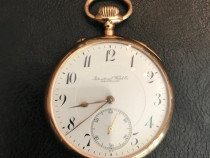 Ceas de buzunar de lux Aur 14k IWC Schaffhausen