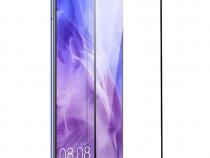 Huawei P Smart Plus - Pachet Husa Silicon Clara/Neagra + Fol
