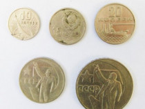 Lot 5 monede 1967 Rusia URSS CCCP 10 15 20 50 copeici kopeks