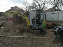 Execut lucrari cu mini excavator si camion 3,5 t