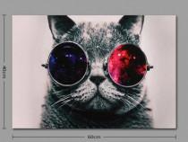 """Tablou """"Pisica cu ochelari"""""""