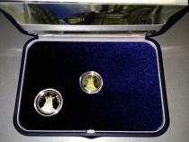 Set BNR Moneda Aur +Alama Stefan cel Mare cu Mnastirea Putna