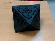 Obiect decorativ de interior Octaedru model geometric