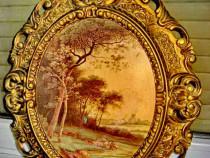 A279-Rama ovala groasa stil baroc deosebita din calamina.