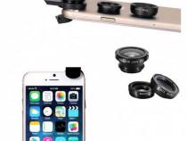 Kit lentile smartphone Wide / Fisheye / Macro
