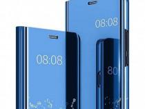 Husa telefon flip book clear view huawei p30 dark blue nou