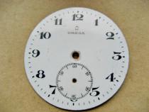 A316-Cadran Omega portelan ceas buzunar vechi barbat.