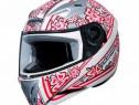 Casca CABERG V-Gal Flower Motorcycle Helmet White/Pink