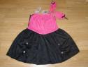 Costum carnaval serbare rochie barbie 6-7 ani