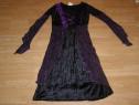 Costum carnaval serbare rochie medievala vrajitoare 9-10 ani