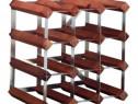 Suport sticle lemn și oțel acan 12 sticle vin, 20% reducere