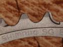 Foaie placa 52 dinti originala shimano culoare gri