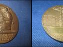 2067-Medalia veche Electric-Gaz France. Metal: bronz sau met
