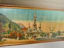 Rama mare aurie originala cca 1900, ext. 59.5/25 cm. Lourdes