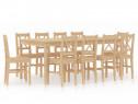 Set de mobilier de bucătărie, 11 piese, lemn 283391