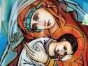 Maica Domnului, ocrotitoarea celor orfani icoană pictată