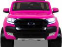 Masinuta electrica ford ranger 4x4 cu roti moi 4x45w #roz