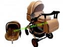 Cărucior nou născut 3in1+geantă Baby Care 531DarkCapuccino