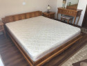 Dormitor matrimonial complet (8 piese), frasin+lemn sculptat