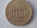 Moneda 50 euro cent germania 2002 rare de colecție