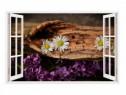Sticker Decorativ, Fereastra 3D, Flori, 85 Cm, 304STK